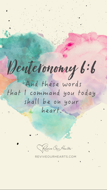 Deut. 6:5–7a desktop wallpaper