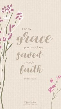 July: Eph. 2:8–10 desktop wallpaper